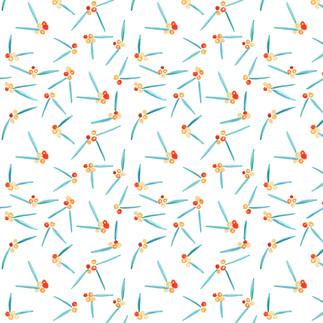 Rowan Berry Illustrated Pattern