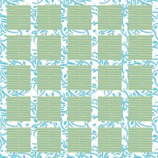 Green & Blue Squares Pattern