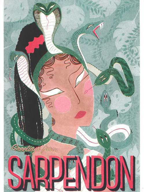 Greetings From Sarpendon        A3 Riso Print