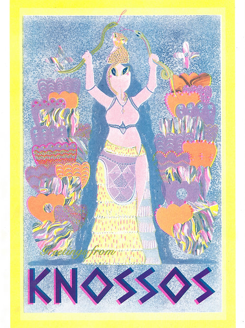 Greetings From Knossos        A3 Riso Print