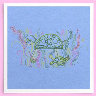 Turtle Party Illustration by HC GORDON