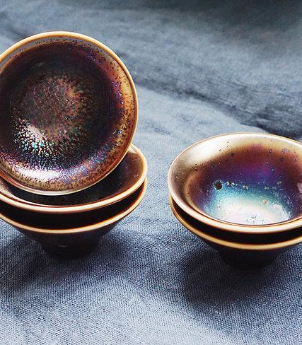 Metallic Glaze Tea Bowl