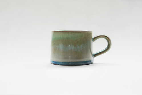 Flambe Glaze Mug-Shan Shui Green