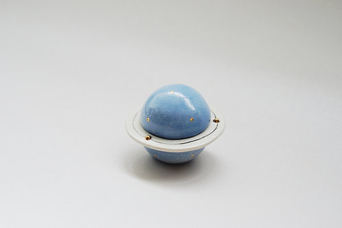 Planet Ceramic Container -Blue (s)