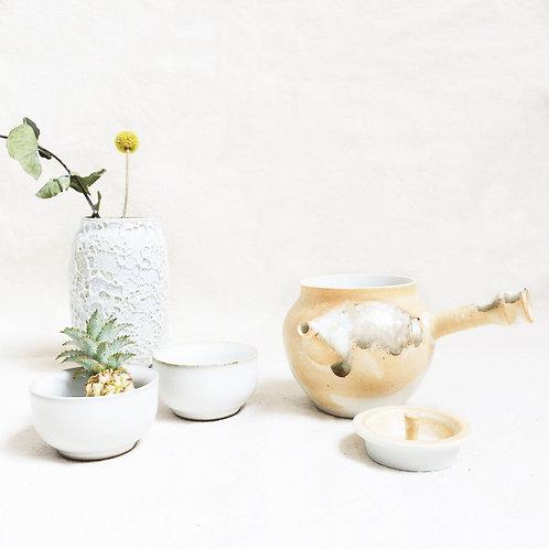 Dotted Orange -Tea Set for 2