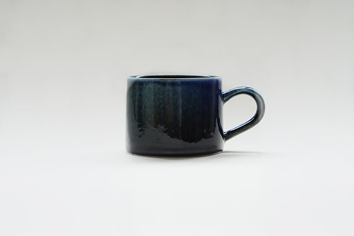 Flambe Glaze Mug-Shiny Black