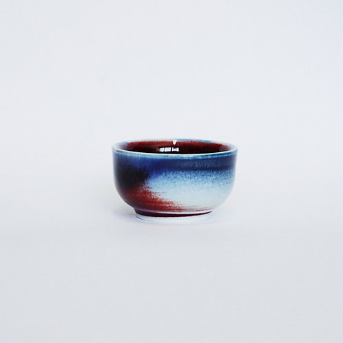 Flambe Glaze Tea Cup- Galaxy Blue
