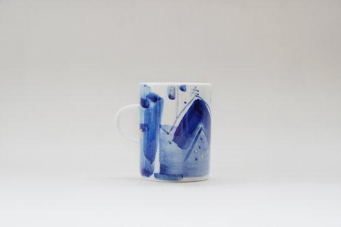 Hand painted Brush Stroke Short Mug(b)