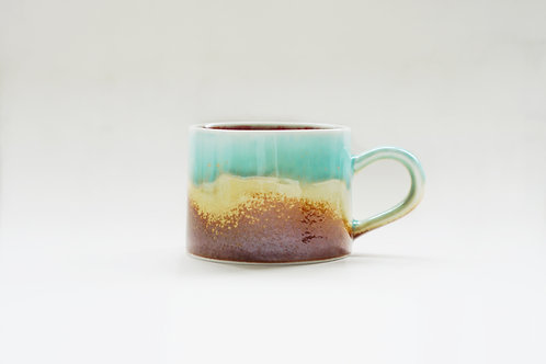 Flambe Glaze Mug-Dripping Glaze(Blue)