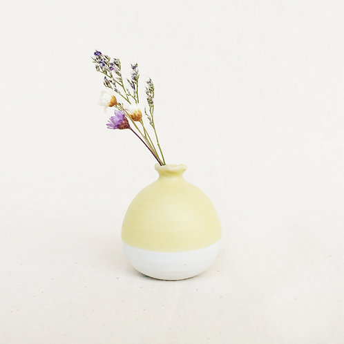 Mini Vase-Pastel Yellow