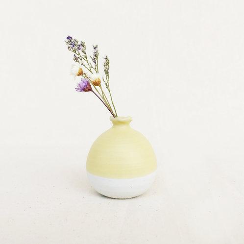 Mini Vase-Pastel Yellow