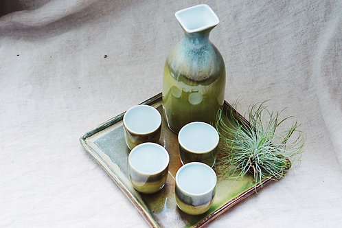 Sake Set -Misky Green