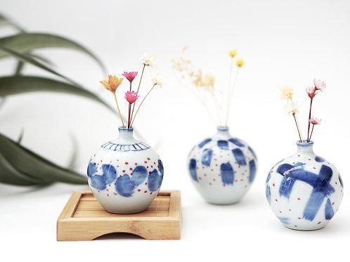 Brushstroke Mini Vase - Ink Wash Series