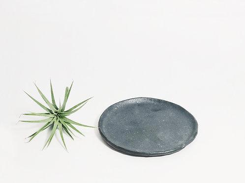 Hand pinched Ceramic Coaster -Dark Coco