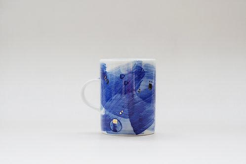 Hand-painted Brush Stroke Short Mug(a)