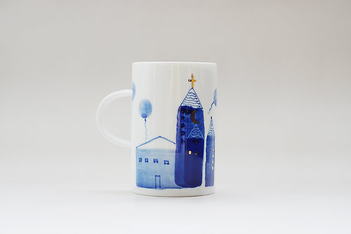 Hand-painted Brush Stroke Tall Mug(e)