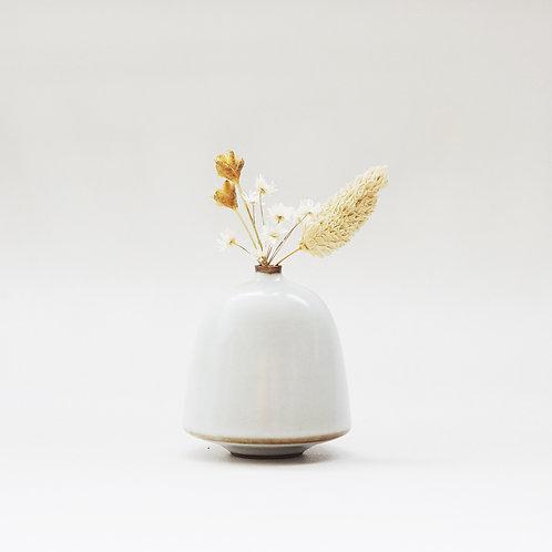 Vintage White Mini Vase - Bell
