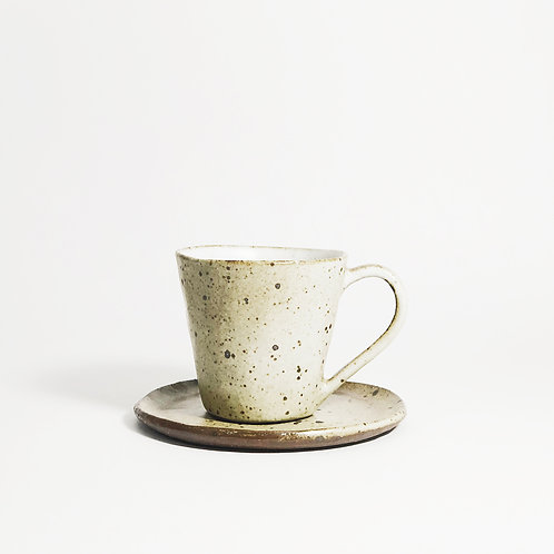 Hand pinched Espresso Set -Roasted White