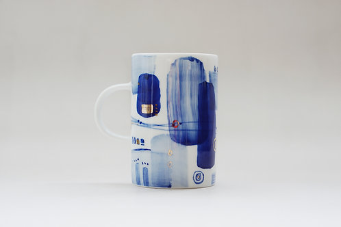 Hand-painted Brush Stroke Tall Mug(a)