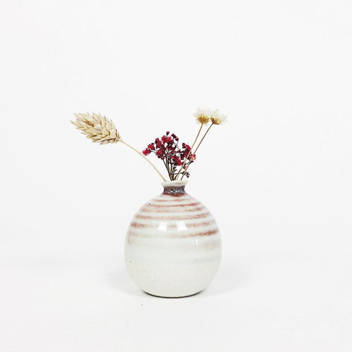 Mini Vase Spiral Cherry Red