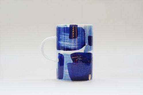 Hand-painted Brush Stroke Tall Mug(d)