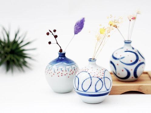 Brushstroke Mini Vase - Script Brush Series