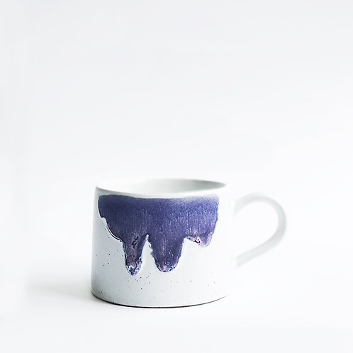 Flambe Glaze Mug-Purple Splash