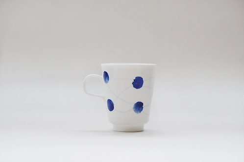 Hand painted Brush Stroke Espresso Cup(c)