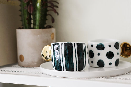 Hand-painted Geometric Pattern Mug