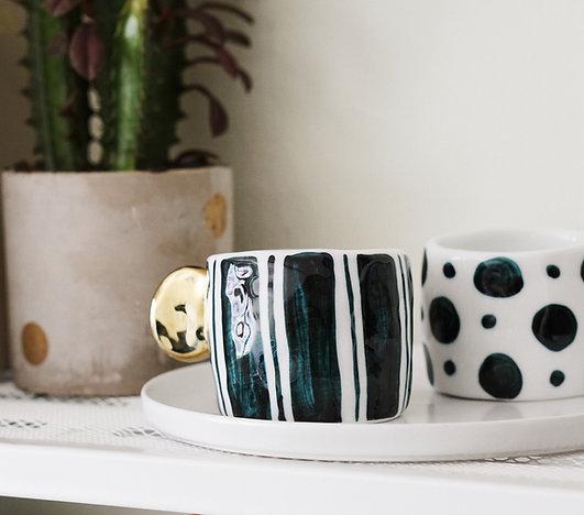 Hand-painted Geometric Pattern Mug