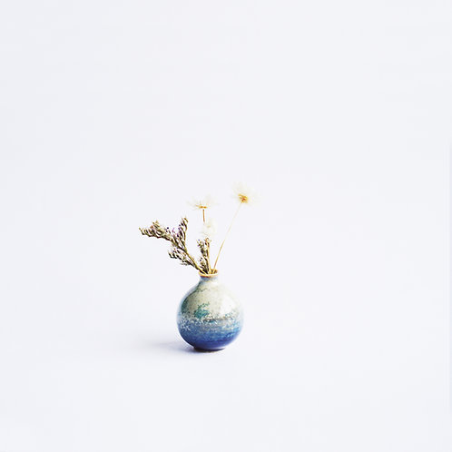 Super Mini Vase- Sea Foam Blue