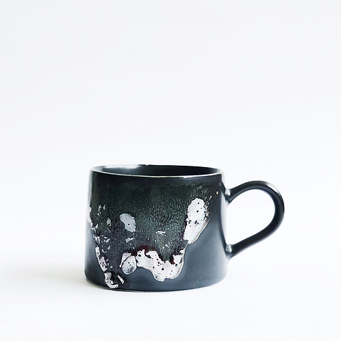 Flambe Glaze Mug-Black Splash