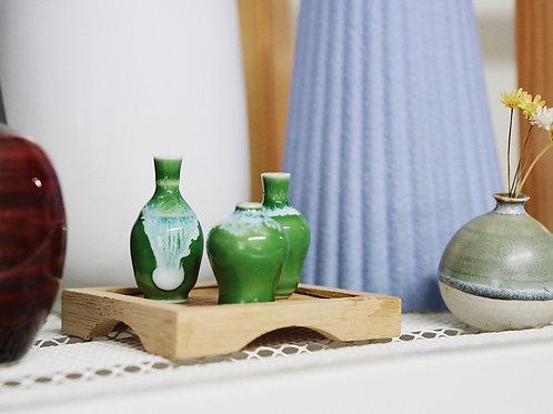 Miniature Display Vases - Sets of 3