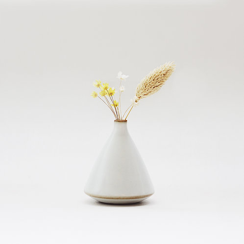 Vintage White Mini Vase -Tiny Hill