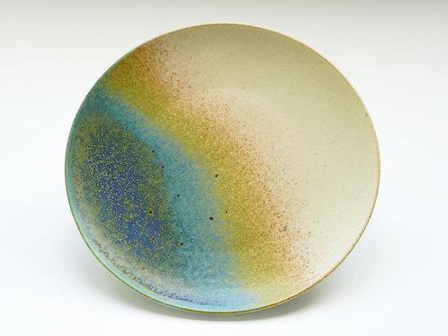 Flambe Glaze Serving Plate-Seashore Blue (L)