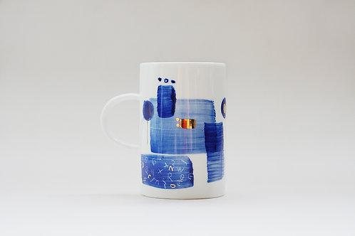 Hand-painted Brush Stroke Tall Mug(b)