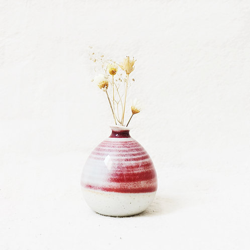 Mini Vase- Spiral Cherry Red