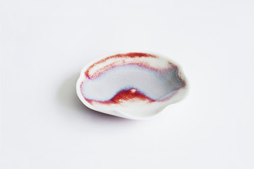 Flambe Glaze Mini Tray-Lavender Fog