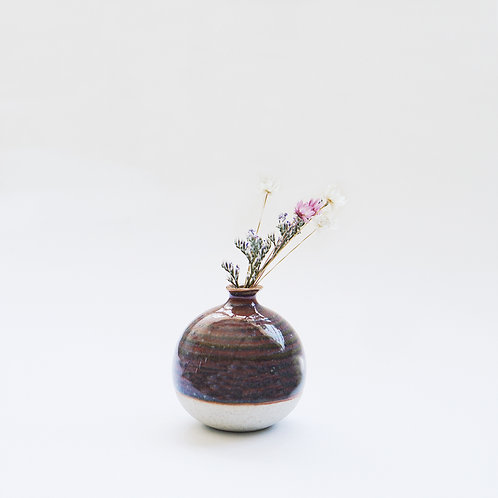 Mini Vase-Shiny Maroon