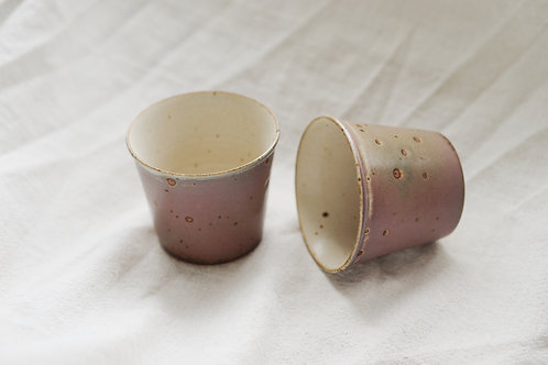 Vintage Speckled Mini Cup - Copper Red(Pair)