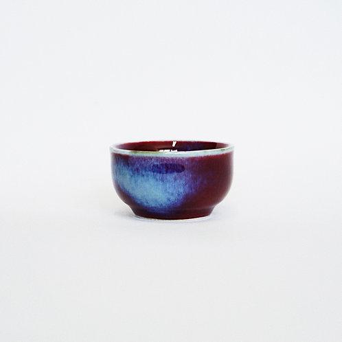 Flambe Glaze Tea Cup- Snowy Violet