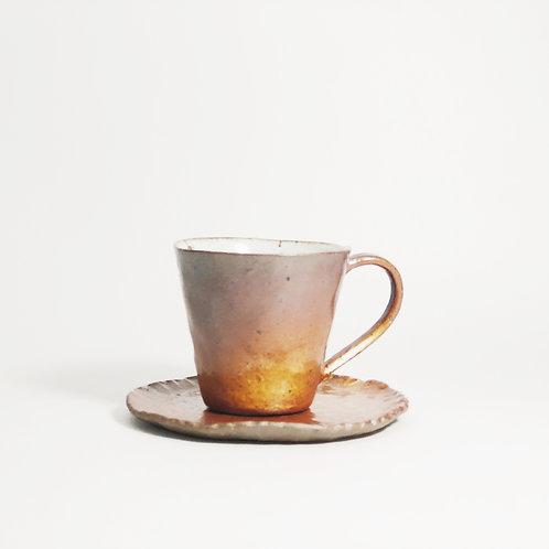 Hand pinched Espresso Set - Dark Gold