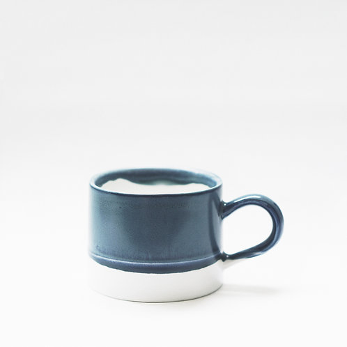 Flambe Glaze Mug-Denim Blue