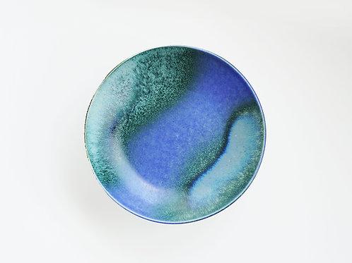 Flambe Glaze Serving Plate-Blue Ravine (M)