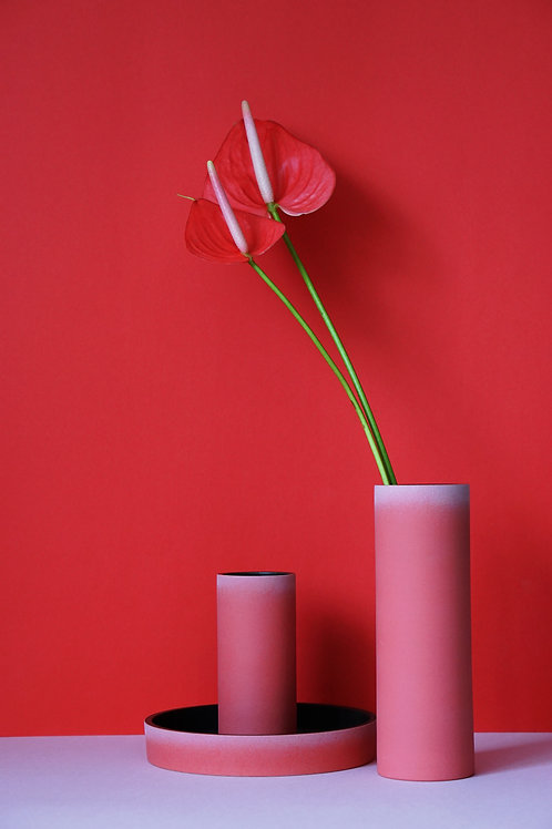 The Tubular Vase Set (Imperial Red)