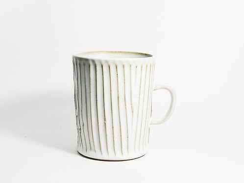 Pleated Mug - White