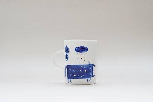 Hand-painted Brush Stroke Short Mug(c)