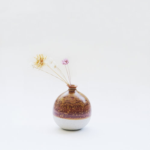 Mini Vase-Caramel Brown