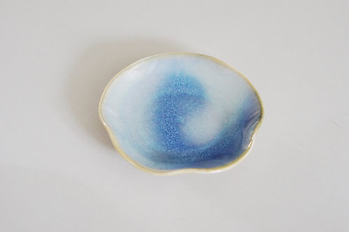 Flambe Glaze Mini Tray-Icy Blue