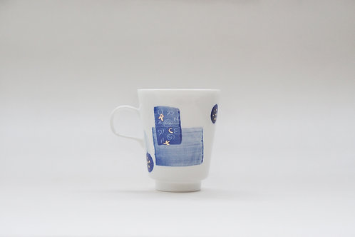 Hand-painted Brush Stroke Espresso Cup(b)